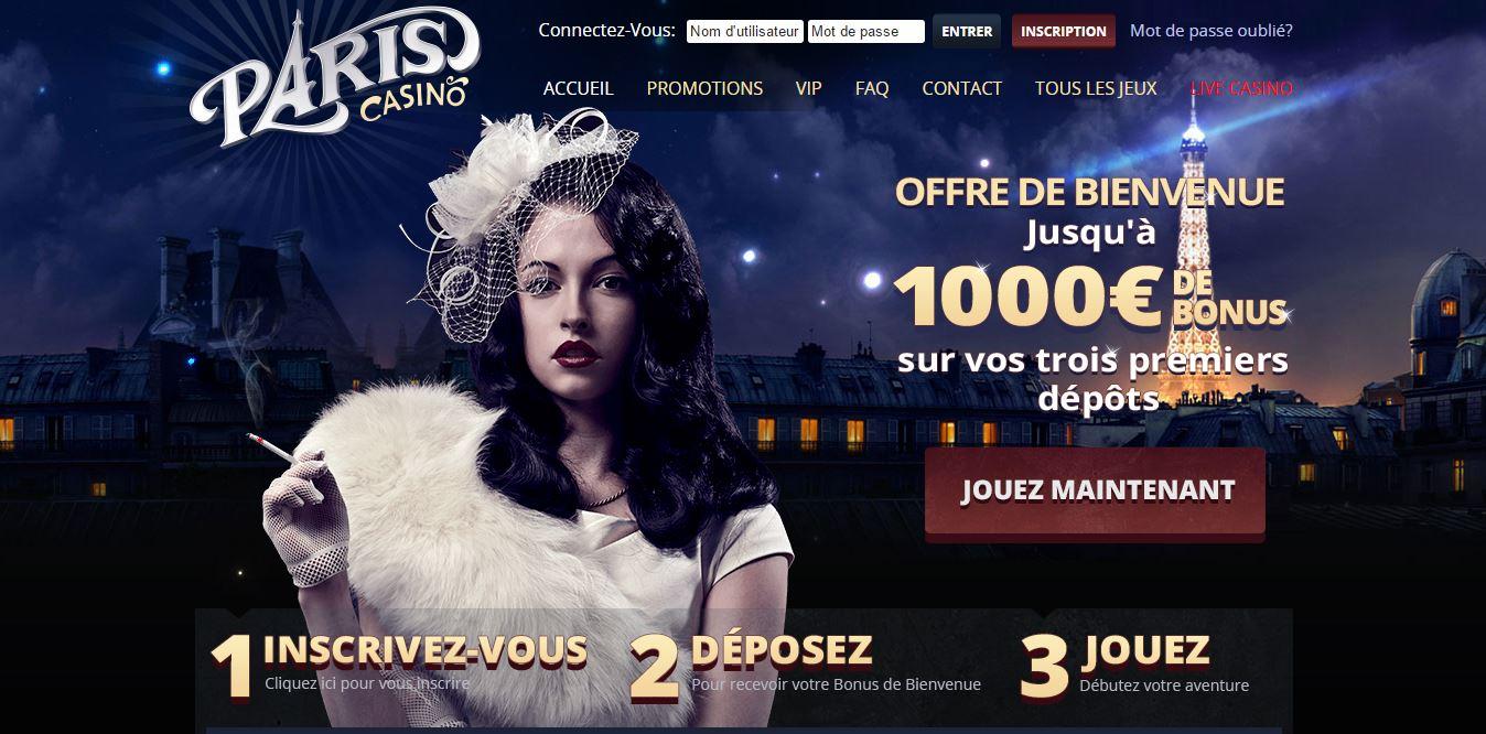 Accueil Paris Casino