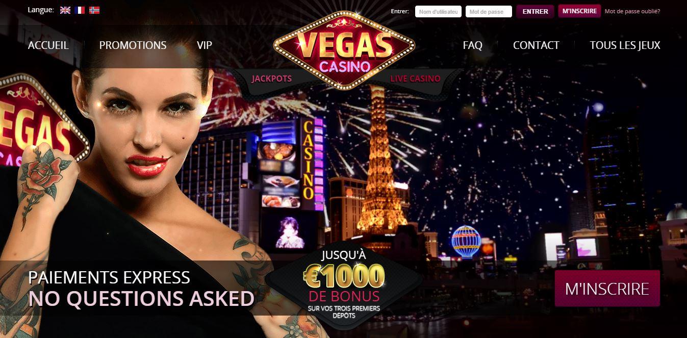 Page d'accueil Vegas Casino