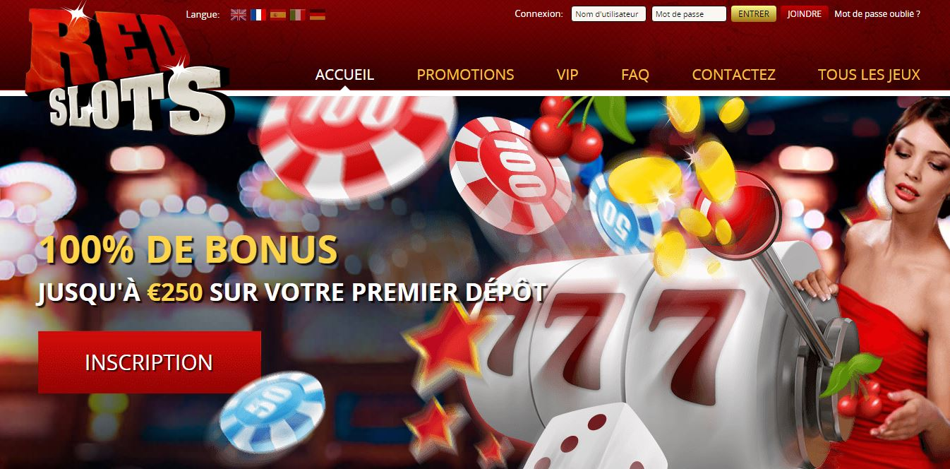 Accueil RedSlots