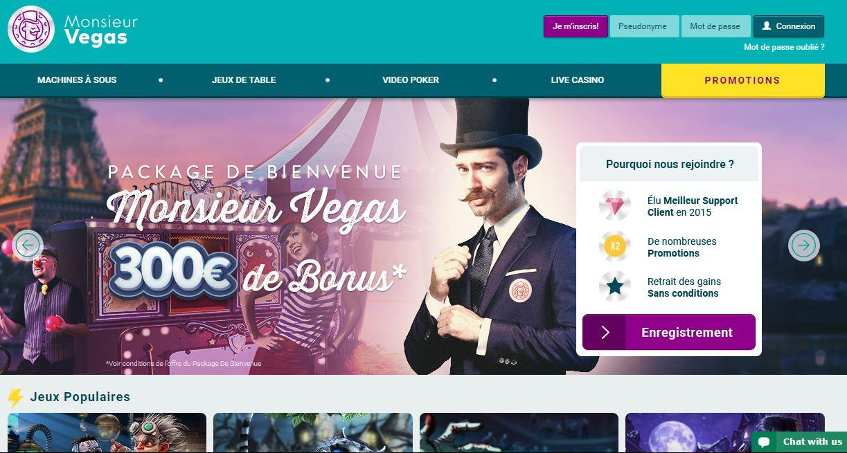 Accueil Monsieur Vegas