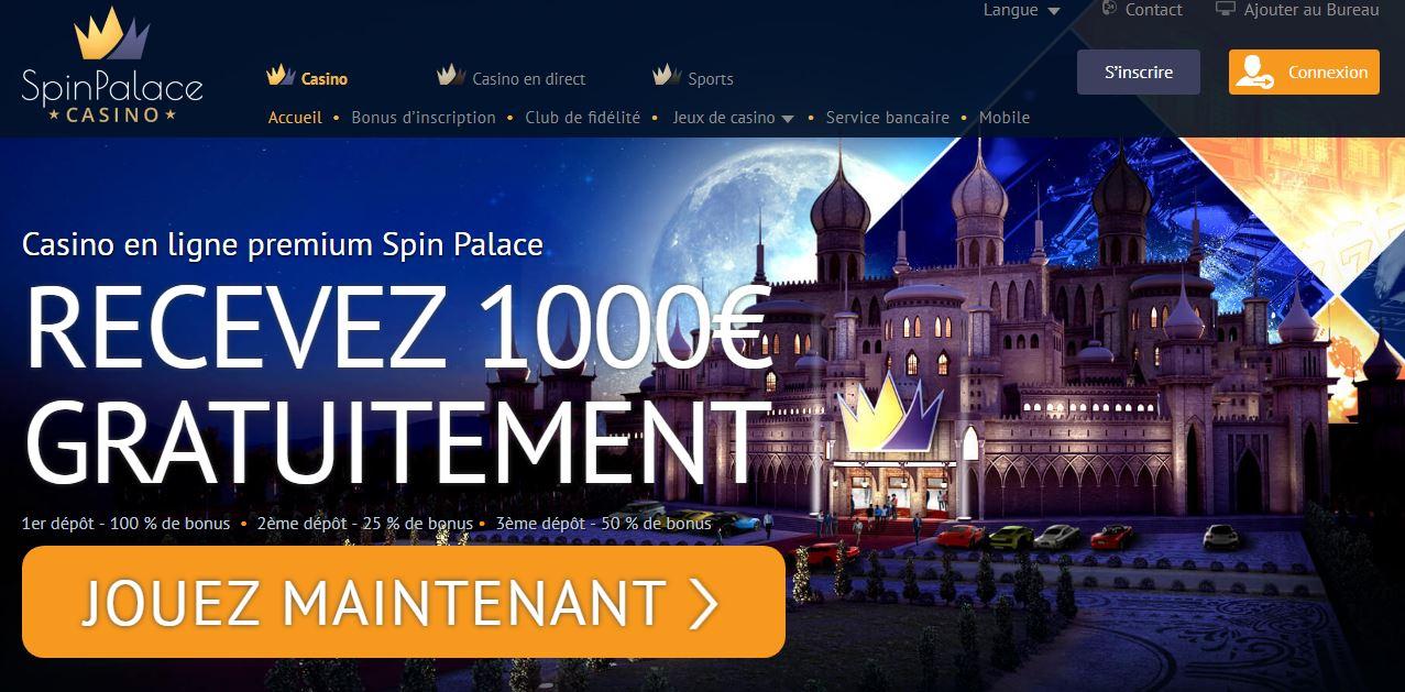 Les jeux de casino Spin Palace