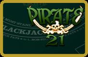 Pirate 21 Blackjack BetSoft - jeu gratuit