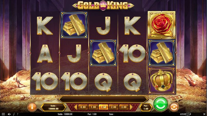 Gold King de Play'n Go - capture écran