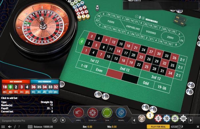 European Roulette Pro - capture écran