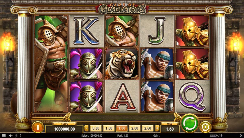 Game Of Gladiators - Play'n Go - capture ecran