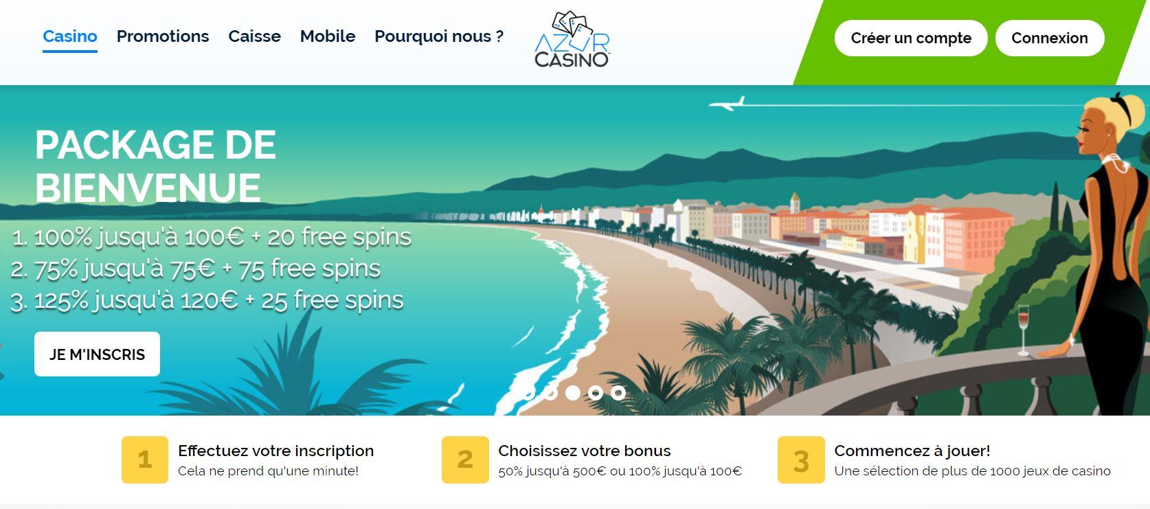 Azur casino 2 - capture écran