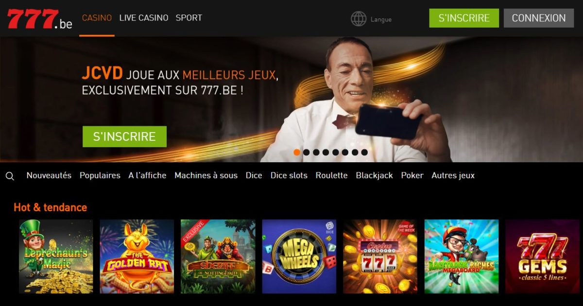 Casino 777 - Page d'accueil