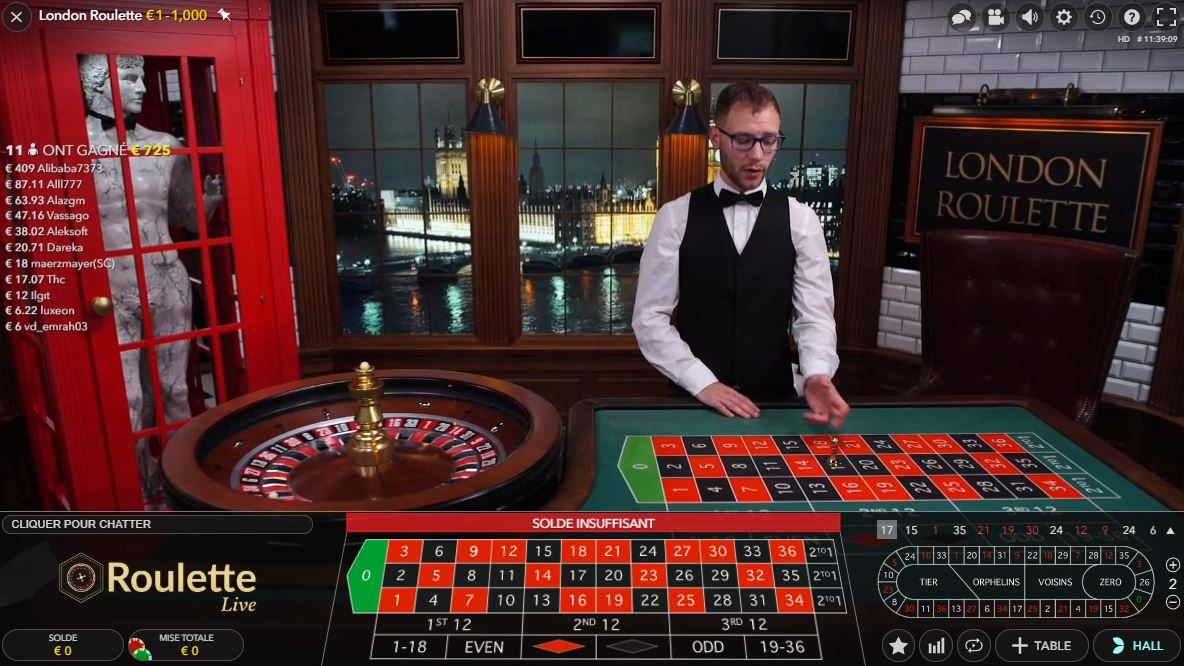 London Roulette Live - Evolution Gaming