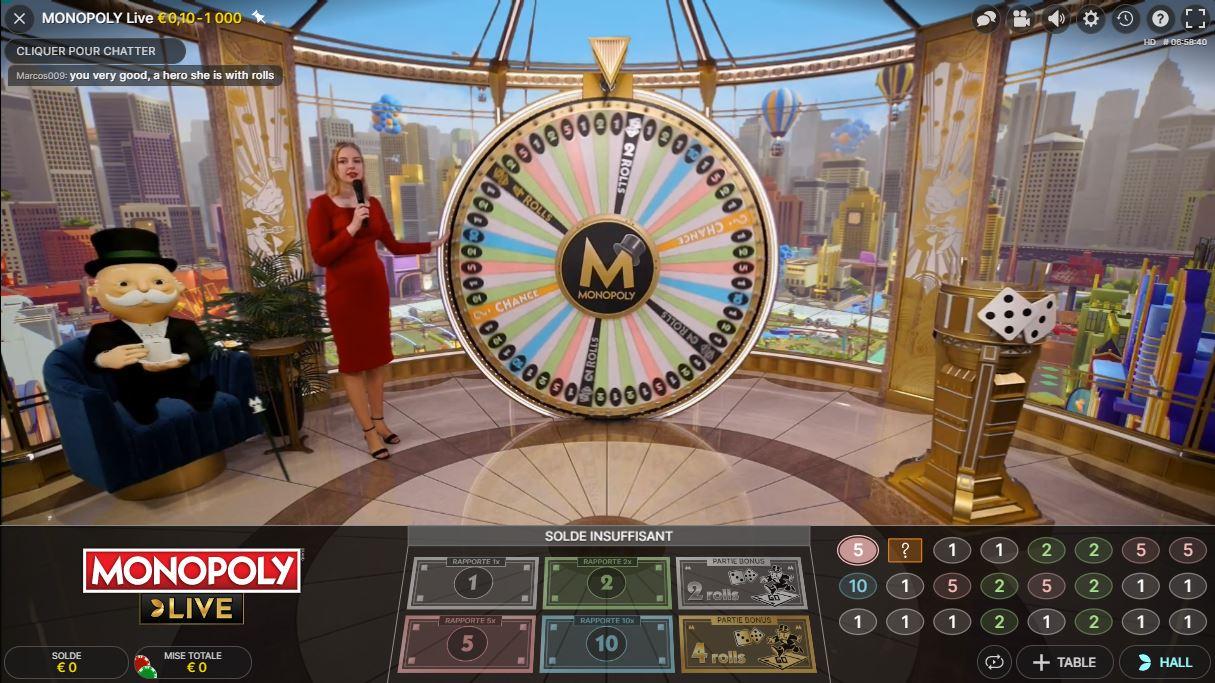 Monopoly Live - capture écran