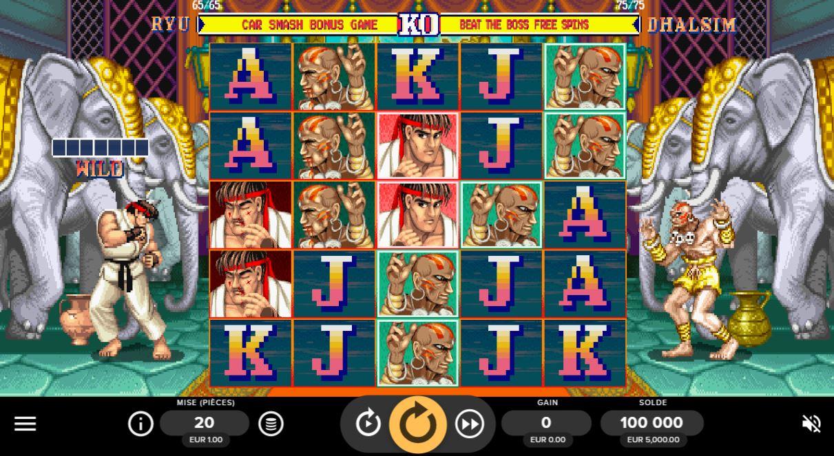 Street Fighter 2 : The World Warrior Slot - capture écran