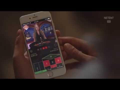 Un jeu de casino live sur un smartphone - illustration