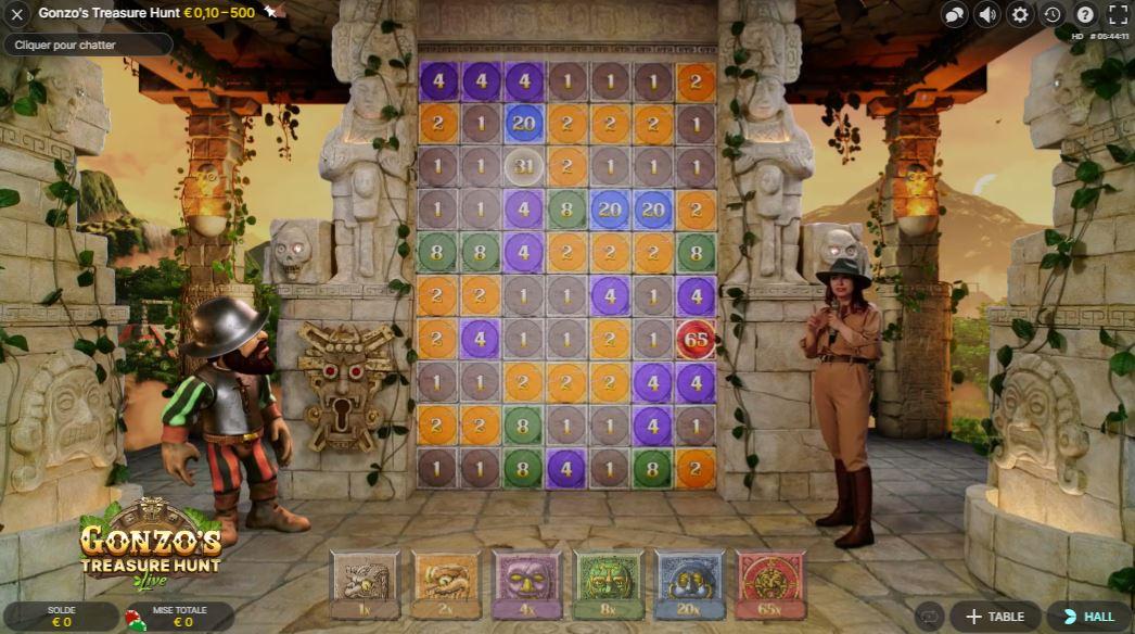 Gonzo's Treasure Hunt - capture écran